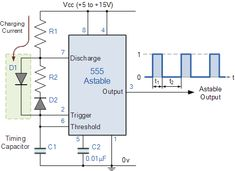Improved 555 Oscillator Duty Cycle