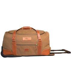 977e050b098 White Wing Carry On Roller Duffle - lots of leather canvas goods - coolers,  shave kits, etc - all made-to-order in Texas