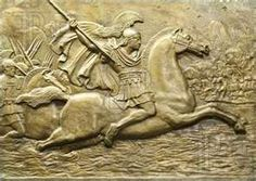 Visit Macedonia - The Ancient Greek Kingdom - Relief depicting Alexander the Great in battle. #Macedonia #Greece #Greekkingdoms #Alexanderthegreat