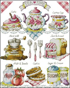 Click to close image, click and drag to move. Use arrow keys for next and previous. Cupcake Cross Stitch, Cross Stitch Fruit, Cross Stitch Kitchen, Cross Stitch Cards, Cross Stitch Samplers, Cross Stitching, Cross Stitch Embroidery, Easy Cross Stitch Patterns, Simple Cross Stitch