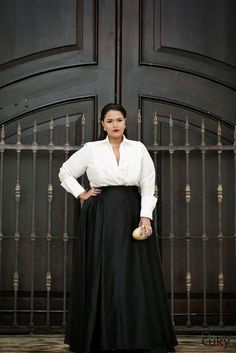 Skirt Outfits Dressy Curvy Ideas Curvy fashion - African Styles for Ladies Plus Size Long Skirts, Flattering Plus Size Dresses, Plus Size Formal, Look Plus Size, Plus Size Gowns, Curvy Girl Fashion, Look Fashion, Skirt Fashion, Plus Size Fashion