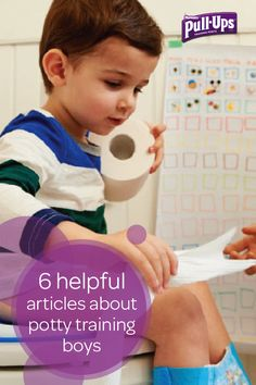 While every child is unique when it comes to potty training, sometimes boys have some special challenges of their own. This collection of helpful articles from the experts at Pull-Ups will help you be prepared for when your little one feels ready to begin his potty training journey. You'll find everything from simple tips to easy ways to encourage your child during his potty training process.