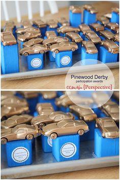 Cub scouts Pinewood Derby DIY awards.