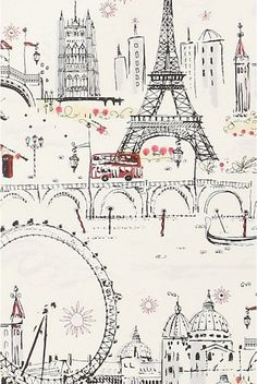 Paris wallpaper for the guest room