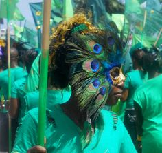 Mashramani celebration in Guyana.  Amazing mask!