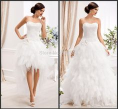 Cheap Detachable Wedding Dresses Strapless Lace Appliques Bodice Corset Back Wedding Gowns Ruffled Tulle Skirt High Low Bridal Dresses Wholesale Wedding Dresses, Wedding Gowns Online, 2015 Wedding Dresses, Bridal Dresses, Dresses 2016, Wedding 2015, Dresses Uk, Bridesmaid Dresses, Prom Dresses