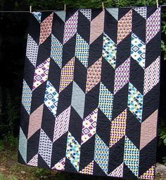 Don't be fooled by that polished, professional look - the Fletcher Free Quilt Pattern is a lot easier to make than it looks!