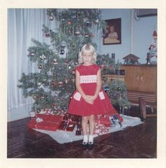 Vintage Christmas photo, 1964.