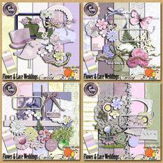 Flower And Lace Weddings Bundle - $9.57 : Caroline B., My Magic World of Digital Design