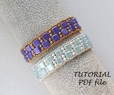 Beaded pattern Beaded bracelet tutorial Beadwork tutorial | Etsy Beaded Bracelets Tutorial, Diy Bracelets Easy, Beaded Bracelet Patterns, Easy Beading Patterns, Easy Beading Tutorials, Diy Jewelry To Sell, Jewelry Making, Jewelry Ideas, Beading Needles