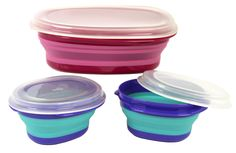 Store snacks, treats and more in this versatile Squish collapsible food storage container set. Storage Sets, Storage Spaces, Best Nonstick Cookware Set, Must Have Kitchen Gadgets, Mothers Day Breakfast, Food Storage Containers, Kitchenware, Dark, Airstream