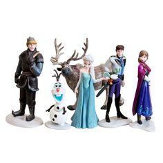 6 pcs/lot 7-10 CM Anna Elsa Hans Kristoff Sven Olaf PVC aksi Angka Mainan Bermain Set mainan klasik gratis Pengiriman Eceran