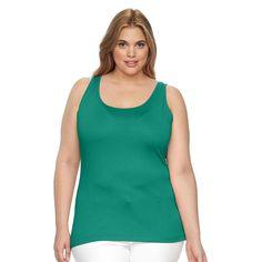 Plus Size Apt. 9® Everyday Scoopneck Tank, Women's, Size: