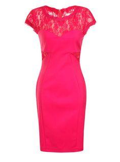 Paper Dolls Pink Lace Detail Bodycon Dress