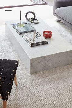 Plinth Extra-Large Coffee Table - #coffeetablestyling Coffee Table Styling, Diy Coffee Table, Decorating Coffee Tables, Coffee Table Design, Modern Coffee Tables, Extra Large Coffee Table, Large Square Coffee Table, Large Table, Granite Coffee Table