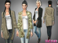 The Sims Resource: 280 - Outfit with coat by sims2fanbg • Sims 4 Downloads