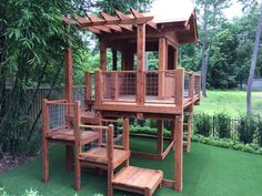 44 Gorgeous Backyard Playground Kids Design Ideas There are numerous points of interest to having your very own playground directly in your backyard. It gives a path to the youngsters to escape the house, have some good Read Backyard Playset, Backyard Swings, Backyard Playhouse, Build A Playhouse, Backyard For Kids, Backyard Projects, Backyard Patio, Backyard Landscaping, Outdoor Playset