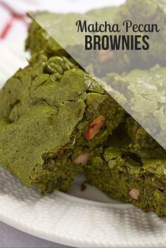 These recipes take the words matcha desserts to the next level.  Their lovely color and delicious texture come together for the perfect matcha dessert. epicmatcha.com/... #matcha #brownies #recipe
