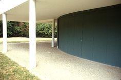 Garage door. Villa Savoye and gardener's lodge, Poissy, France.1928. Le Corbusier