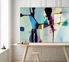 Contemporary abstract painting - Aquatic Ways by artist Sarina Diakos - Sarina Diakos