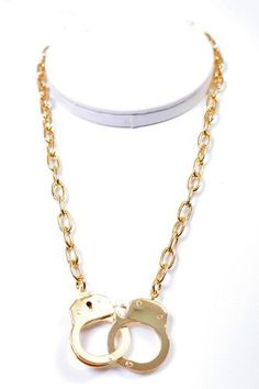 Gold Plated Handcuff Necklace by SpinningDaisy. $11.99. This fun necklace is not only cute but meaningful in occasions like halloween It will go with any outfit and occasion and finish touch to your outfit