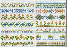 Floral borders from