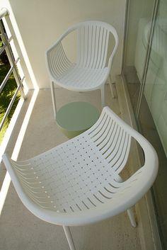 Muebles de Terraza, estilo moderno europeo blend con vintage Acapulco, we love them!