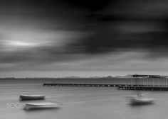 Long exposure at Mar Menor. Santiago de la Ribera. Murcia.