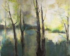 "Slate Gray Gallery | JOAN FULLERTON | 'Verdant Beginning' (48""H x 60""W) Acrylic on Canvas"