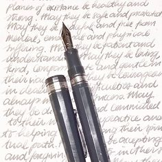 """""""Omas LE Grey with Sailor Jentle Grey #mondaymatchup #mondaymatchupgiveaway #gouletpens #omas #sailor #fountainpen #Fpgeeks #mindfulwriting…"""""""