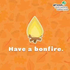  Embrace chilly fall evenings with a bonfire! This is a warm way to bond with your troop over songs, scary stores, and of course s'mores! Remember to practice safety first and have an adult on hand to help! Autumn Activities, Girl Scouts, Troops, North Carolina, Scary, Bond, Coastal, Safety, Party Ideas