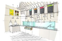 Interior drawing of the new Poncho 8 opening in Leadenhall