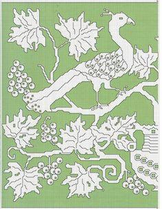 Gallery.ru / Фото #82 - Assisi - irislena Folk Embroidery, Learn Embroidery, Cross Stitch Embroidery, Embroidery Patterns, Cross Stitch Borders, Cross Stitch Designs, Altar Cloth, Beautiful Birds, Blackwork