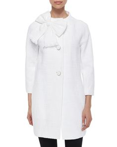dorothy bow-front tweed coat by kate spade new york at Neiman Marcus.