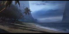 The Shore, Sebastian Leon-Silva on ArtStation at https://www.artstation.com/artwork/Wb8qX