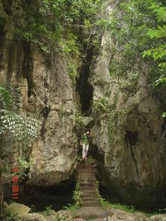 Cave exploration Kampong Trach . Cambodia