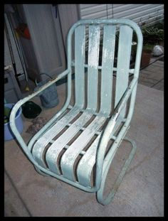 Find best value and selection for your VINTAGE ANTIQUE IRON METAL OUTDOOR  ROCKING SPRING UP DOWN LAWN PATIO CHAIR search on eBay Antique Metal Lawn Chairs   Metal Lawn Chairs   Pinterest   Metal  . Antique Motel Chairs. Home Design Ideas