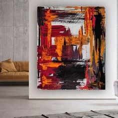 Oversized Acrylic Painting Living Room Wall Art Modern Wall image 4 Large Painting, Oil Painting On Canvas, Oversized Wall Art, Large Canvas Wall Art, Living Room Paint, Modern Wall Decor, Colorful Paintings, Texture Art, Original Paintings