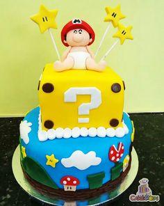 Baby mario cake