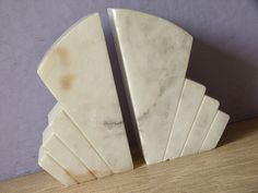 Vintage 1930's Marble Bookends, Art deco bookends, Antique bookends, Art deco…