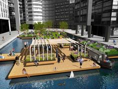 London's first floating park slated to open this spring | Inhabitat - Green Design, Innovation, Architecture, Green Building