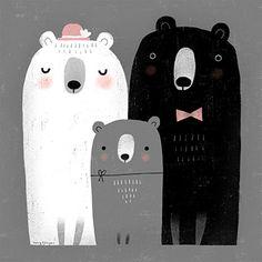 Terry Runyan by terryrunyan Family Illustration, Cute Illustration, Bio Shop, La Reproduction, Posca Art, Art Original, Bear Art, Family Affair, Cute Characters
