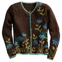 A feminine little sweater.  Aster Alpaca Sweater | National Geographic Store