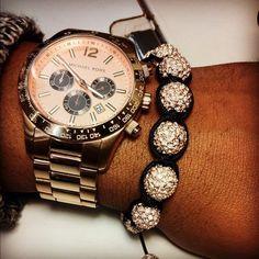 mk watch and mk bracelet