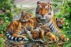 mama and cubs painting