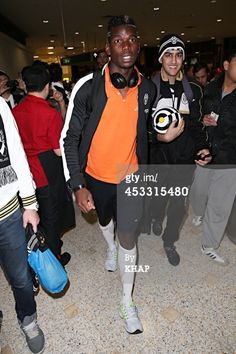 Paul Pogba of Italian soccer team Juventus arrives at Sydney...