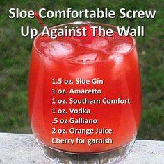 Sloe comfortable screw up against the wall