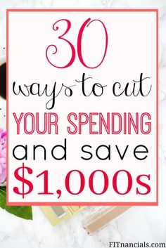 30 ways to cut your spending and save thousands. If you implement these tricks and tips, you'll definitely be on the road to saving thousands!