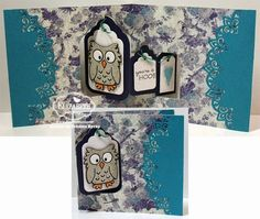 Frances Byrne using the Pop it Ups Tags Pivot Card, Poppy the Owl and Paris Edges die sets by Karen Burniston for Elizabeth Craft Designs. - You're a Hoot!