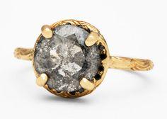 The Digby & Iona Inigo Band Displays a Salt-and-Pepper Hued Diamond #fashion trendhunter.com